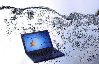 Laptop Water dipped